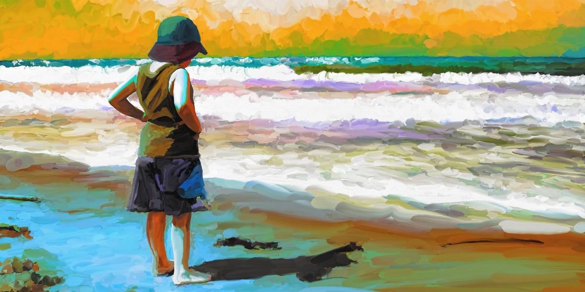 kind aan het strand